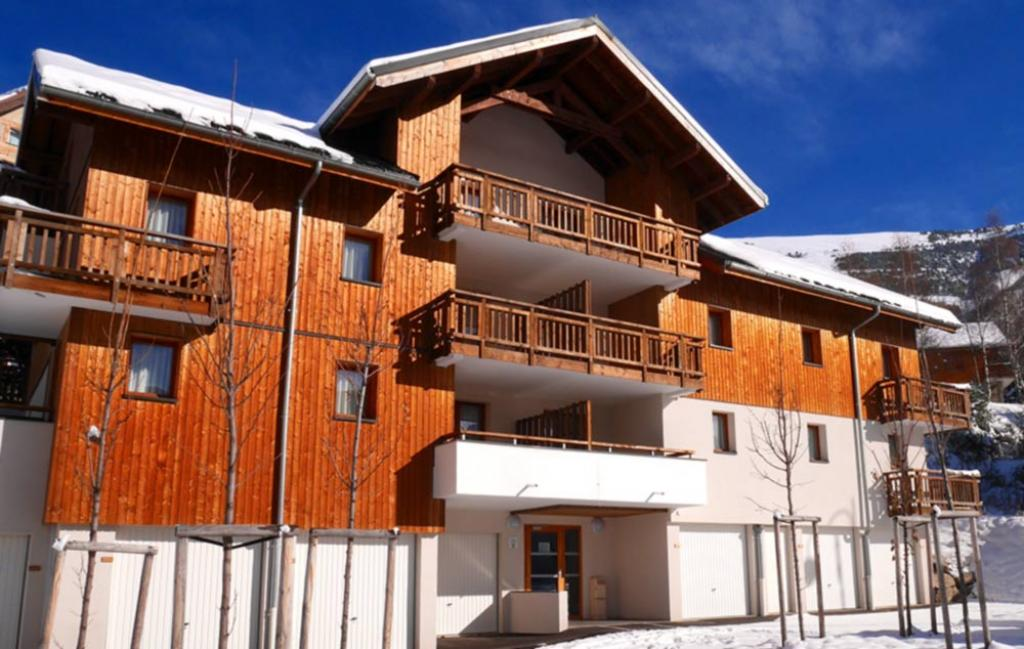 Slide la façade de la résidence