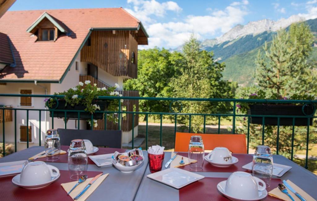 Slide le balcon petit déjeuner