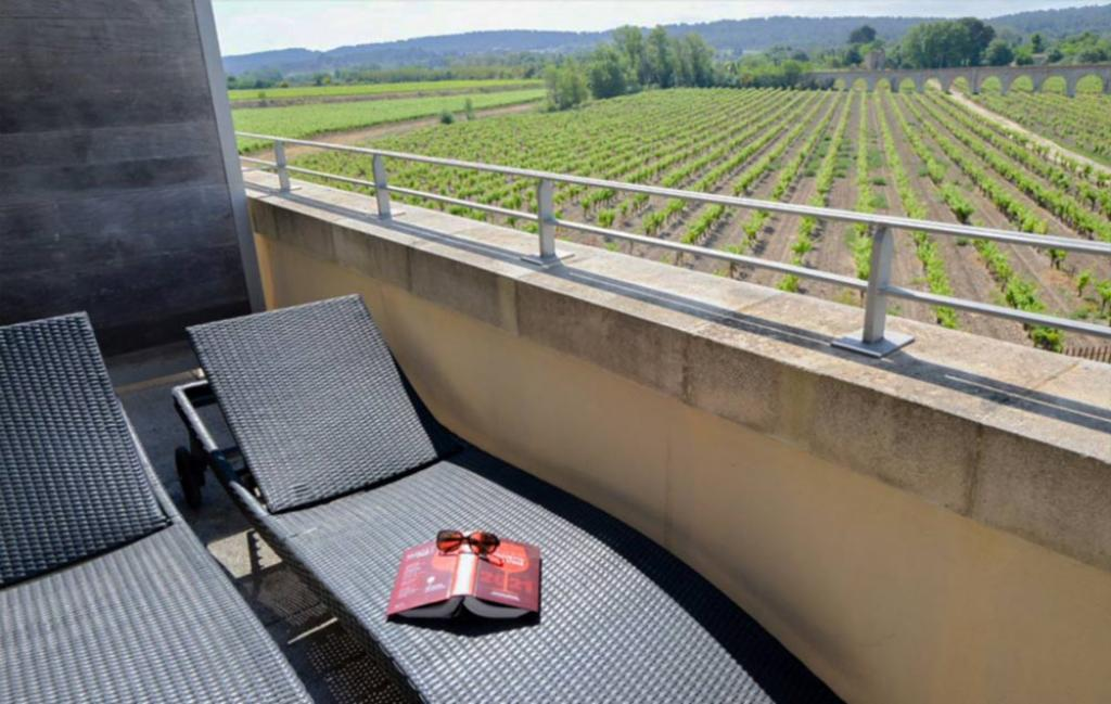 Slide balcon vue vignes