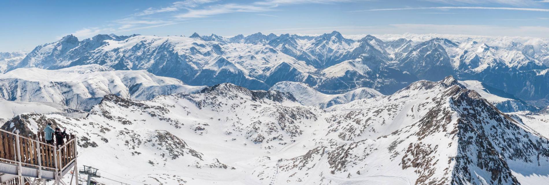 Slide vue panoramique sur les 2 Alpes