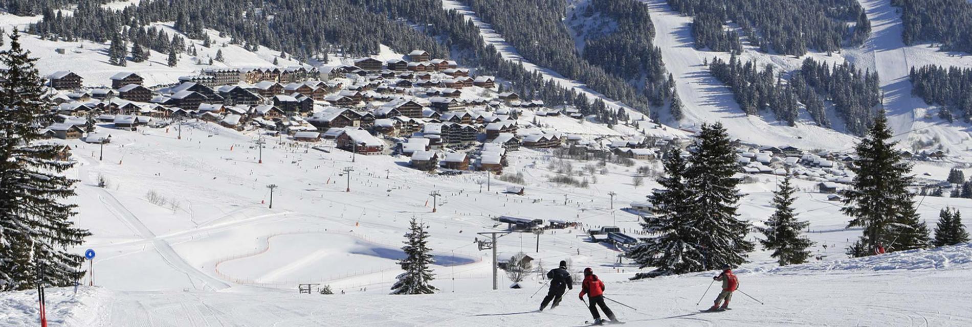 Slide le domaine skiable des Saisies
