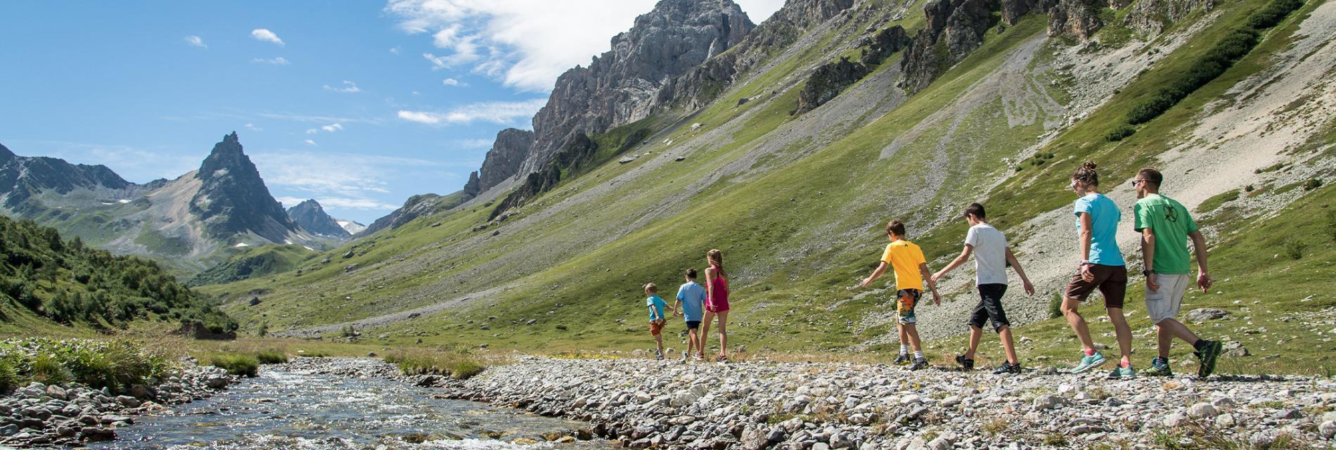 Slide randonnée à Valloire