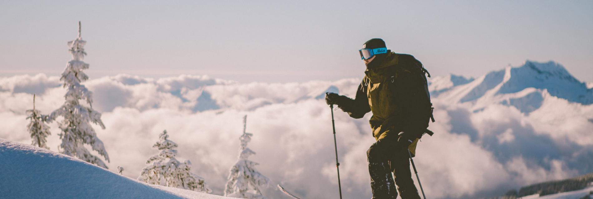 Slide le ski de randonnée