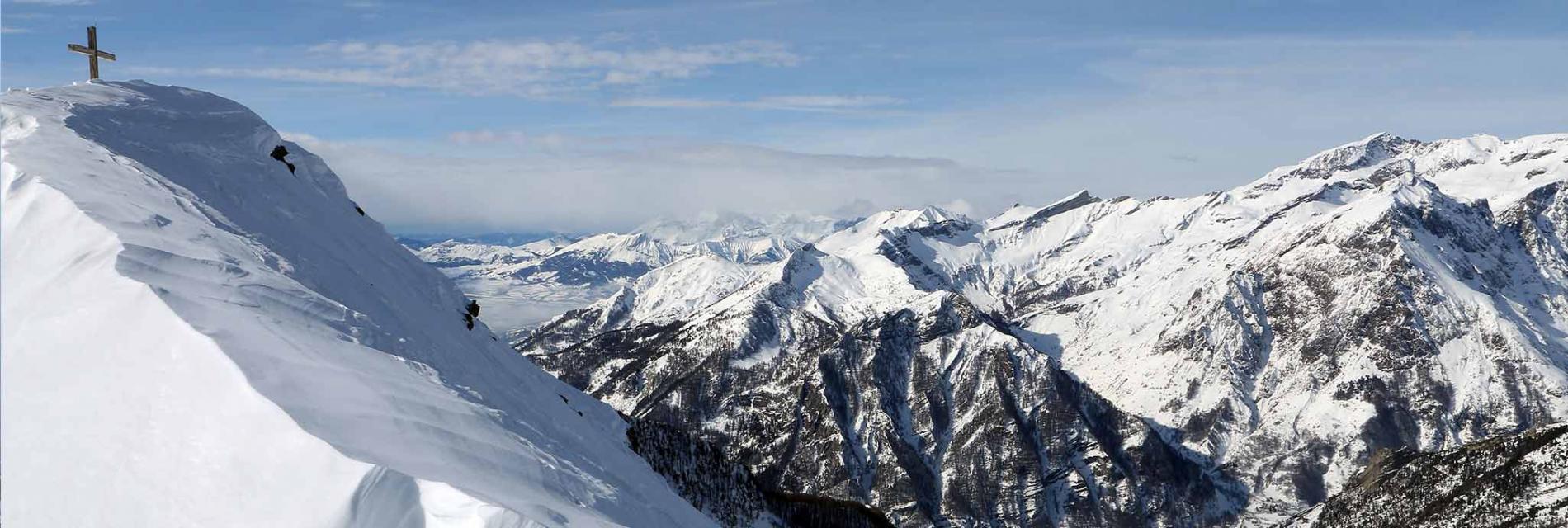 Slide paysage d'hiver