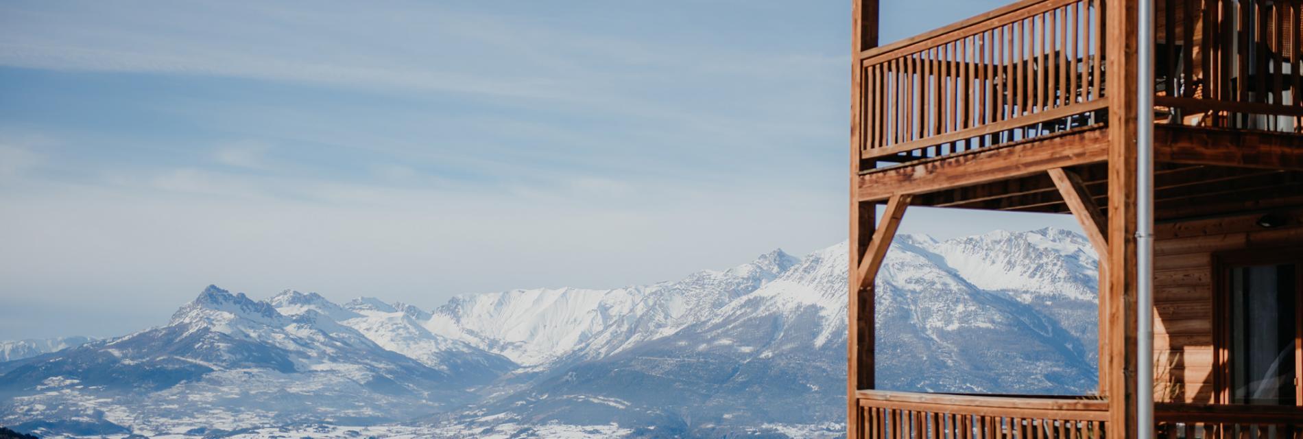 Slide la vue sur le domaine skiable