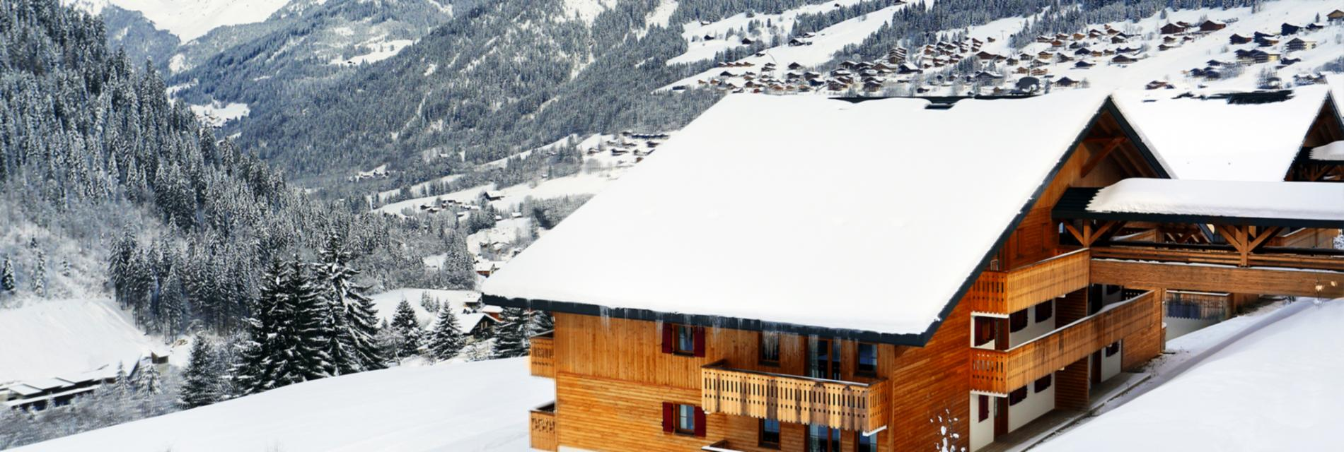 Slide Arrière de la résidence le Grand Lodge - Montagne Hiver