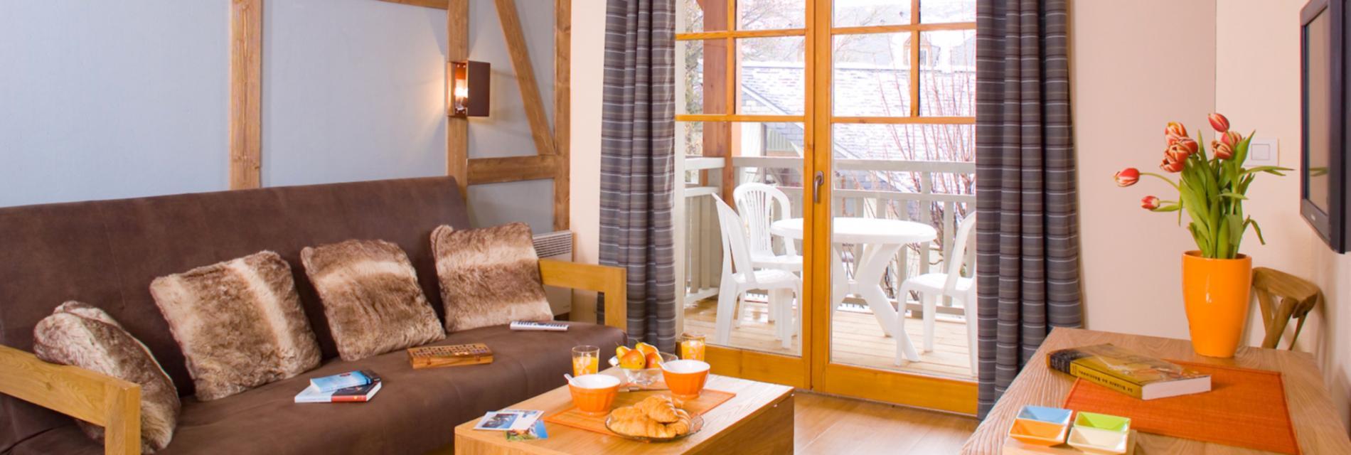 Slide Salon appartement Résidence Cami Réal - Saint-Lary Soulan