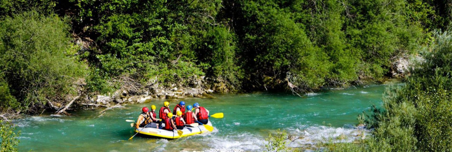 Slide rafting