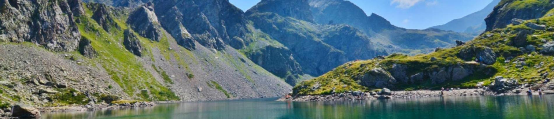Slide vue lac