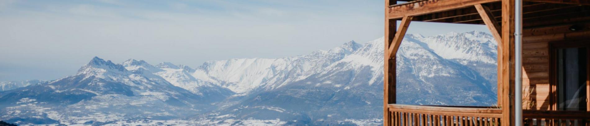 Slide vue sur le domaine skiable