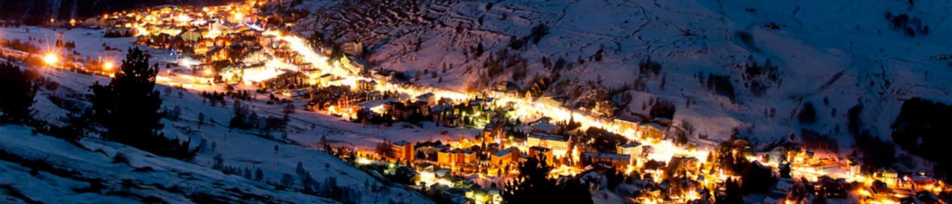 Slide la station des 2 Alpes de nuit