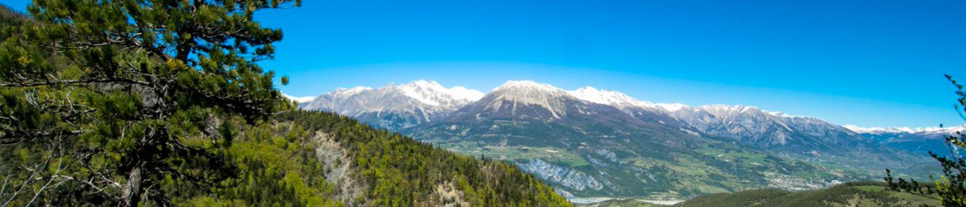 Slide vue sur les sommets