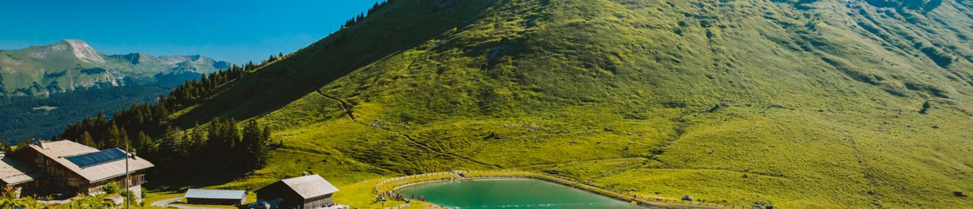 Slide paysage d'été aux Gets