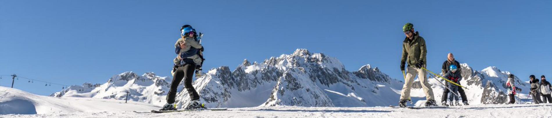Slide ski en famille